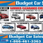 Budget Car Sales Newspaper Ad