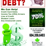 Simply No Debt Flyer
