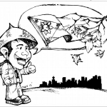 Editorial cartoon for Philippine Canadian Inquirer