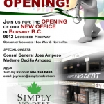 Simply No Debt Grand Opening Flyer