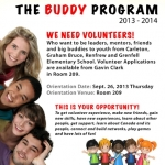 CNH Buddy Program for Volunteers Poster
